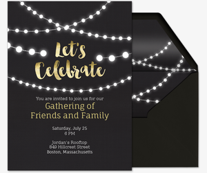 String Lights Invite Invitation