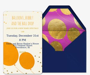 Balloons and Bubbly Invitation