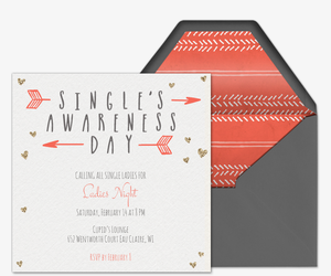 Singles Awareness Day Invitation