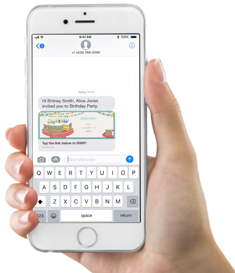 Send Party & Event Invitations By Text Message