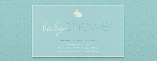 baby, baby shower, boy, bunny, rabbit