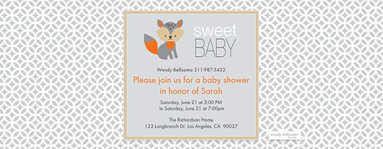 fox, animal, animals, baby, baby shower, sweet baby, sweet, bellissimo, wendy bellissimo,