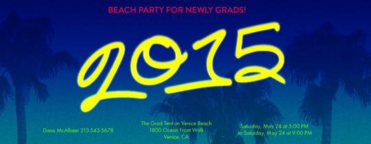 graduation, 2014, beach, graffiti, grad, grad night, animated, beach party,
