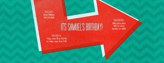 Birthday Arrow Invitation