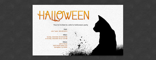 Black Cat Invitation