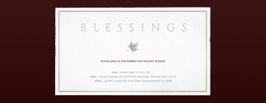 Blessings Invitation
