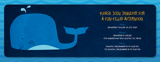 Blue Whale Invitation
