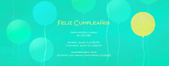 Bright Balloons Invitation