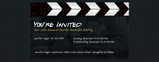 Clapboard Invitation