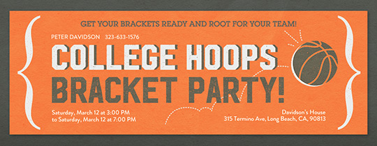 College Hoops Bracket Invitation