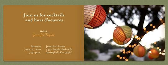 Colorful Lanterns Invitation