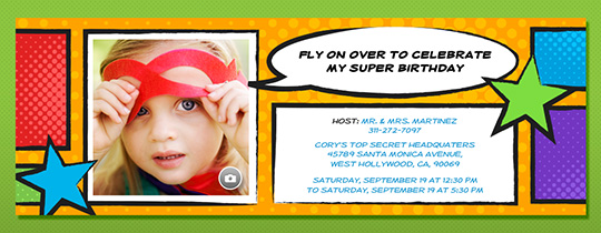 Comic Strip Invitation