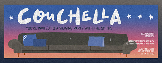 Couchella Invitation