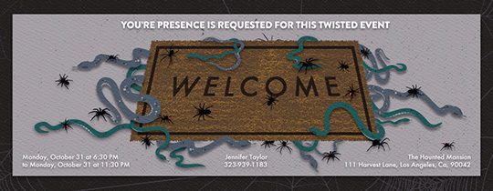 Creepy Welcome Invitation