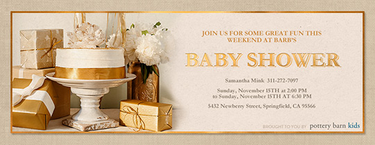 Gold Baby Shower Invitation