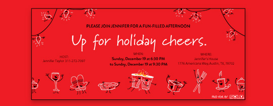 Up For Holiday Cheers Invitation