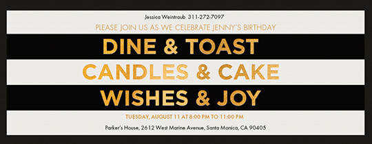 Dine and Toast Invitation