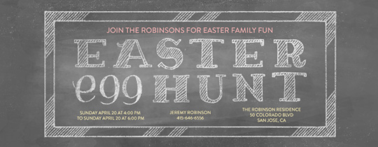 Easter Chalk Invitation