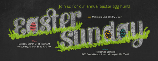 Easter Sunday Invitation