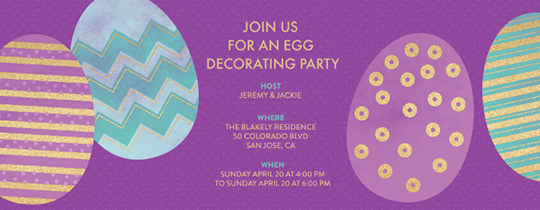Egg Surprise Invitation