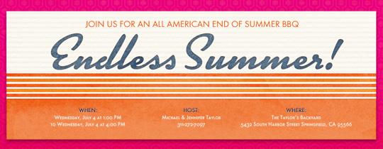 Endless Summer Invitation