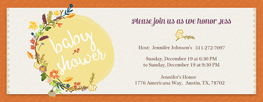 Fall Baby Shower Invitation