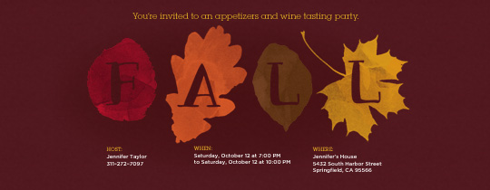 Fall Foliage Invitation