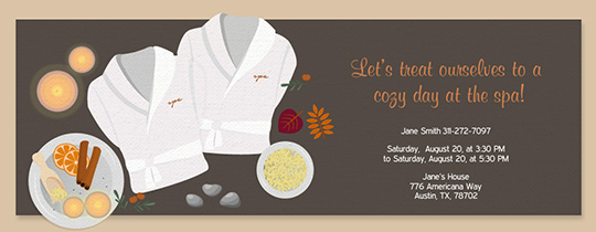 Fall Spa Invitation