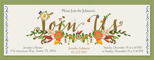 Fall Spray Invitation