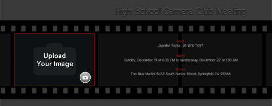 Filmstrip Invitation