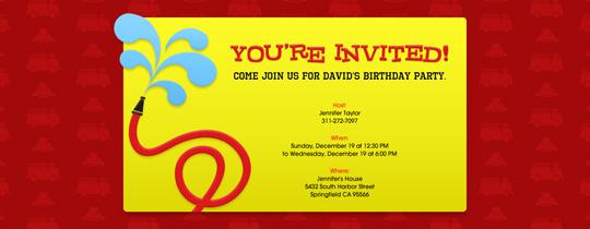 Fire Hose Invitation