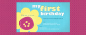 1st, bday, birthday, first, flower, girl, pink