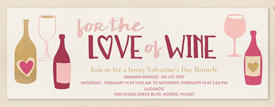 For The Love of Wine Invitation