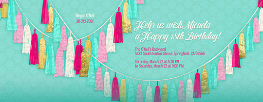 Garland Mint Invitation