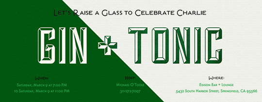 Gin and Tonic Invitation