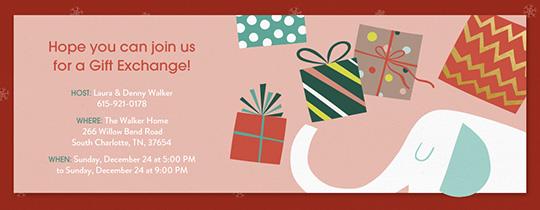 gift exchange online invitations