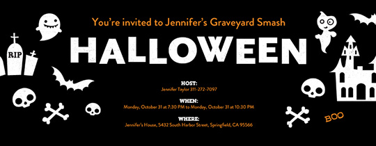 Halloween Things Invitation