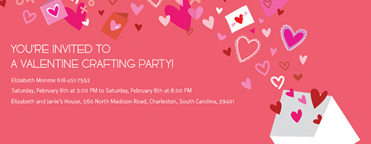 Hearts, Crafting Party, Love, xoxo, Valentine's Day, Valentine, V-Day