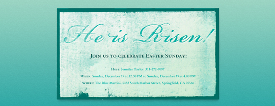 He is Risen Invitation