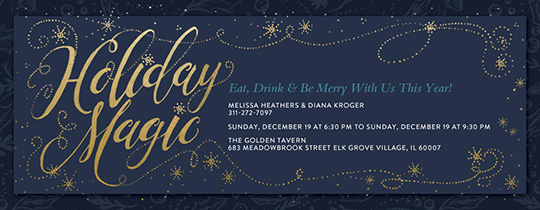 Holiday Magic Invitation