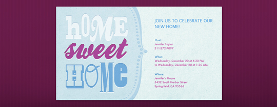Home Sweet Home Invitation