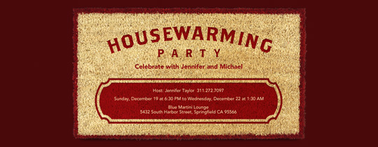 door mat, housewarming, housewarming party, new apartment, new house