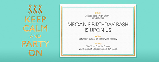 Keep Calm Mint Invitation