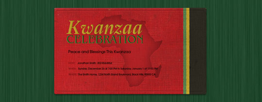 Kwanzaa Map Invitation