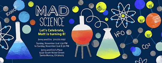 Mad Scientist  Invitation
