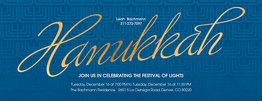 Menorah Pattern Invitation