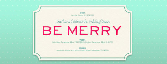 Merry Dots Invitation