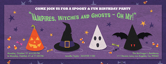 Monster Party Hats Invitation