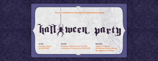 Ms. Muffet Invitation