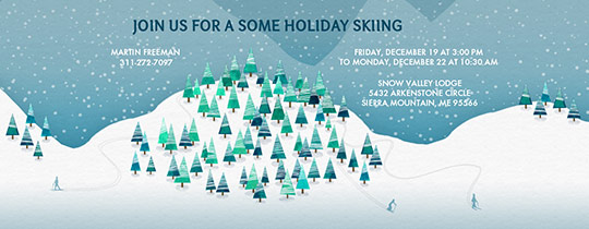 On The Slopes Invitation